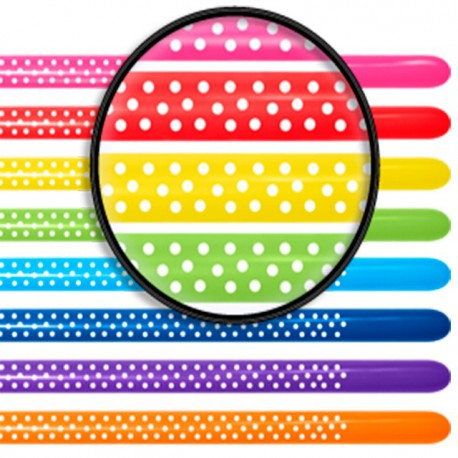Globos de modelar 260S colores solidos surtidos Polka