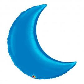 """Globos de foil luna creciente 35"""" Azul Zafiro"""