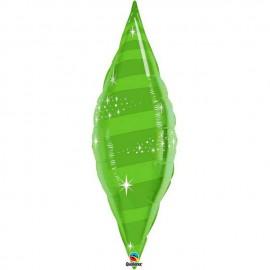 "Globos de foil TAPER SWIRL 38"" Verde Lima Qualatex"