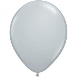 "Globos redondos de 11"" Gris Qualatex"