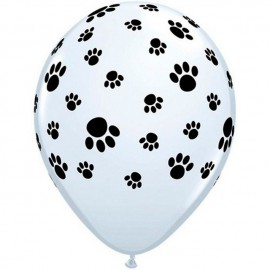 "Globos de 12"" Paw Prints Qualatex"