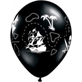 """Globos de 11"""" Mapa pirata"""