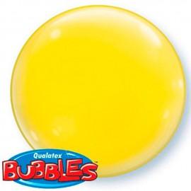 """Globos de foil de 15"""" (38Cm) Bubbles Deco Amarillo"""