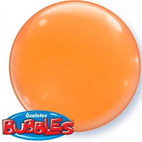 """Globos de foil de 15"""" (38Cm) Bubbles Deco Naranja"""