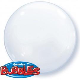 """Globos de foil de 15"""" (38Cm) Bubbles Deco Blanco"""