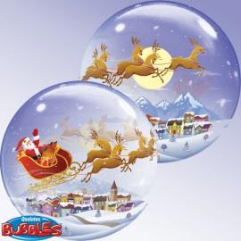"""Globos de foil de 22"""" Bubbles Visita de Santa"""