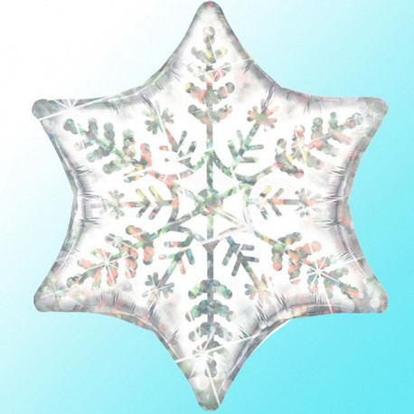"Globos de foil Estrella de 22"" (56Cm) Copo de Nieve"