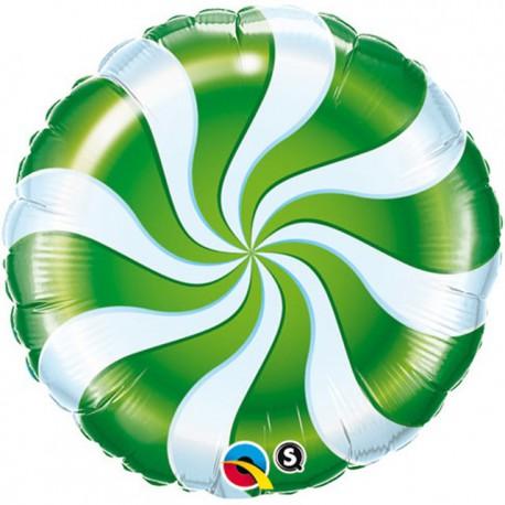 """Foil 18"""" (45Cm) Caramelo Verde y Blanco"""
