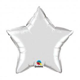 """Globos de foil Estrella de 20"""" (51Cm) Plata qualatex"""