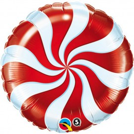"""Foil 9"""" (23Cm) Caramelo Rojo y Blanco"""