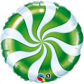 """Foil 9"""" (23Cm) Caramelo Verde y Blanco"""