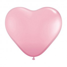 "Globos de 15"" Corazones Rosa Qualatex"