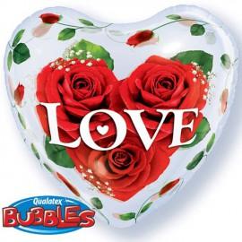 """Globos de foil de 22"""" Bubbles Rosas Amorosas"""