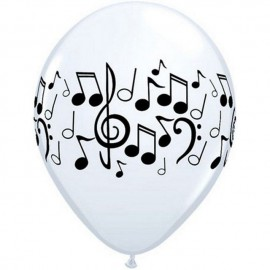 "Globos de 11"" Notas B&N Qualatex"