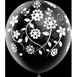 """Globos de 12"""" Flores Boda Transparentes"""