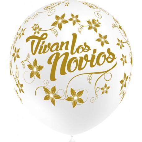 """Globos de 12"""" Vivan Los Novios"""