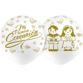 """Globos de 12"""" Comunion Blanco Balloonia"""