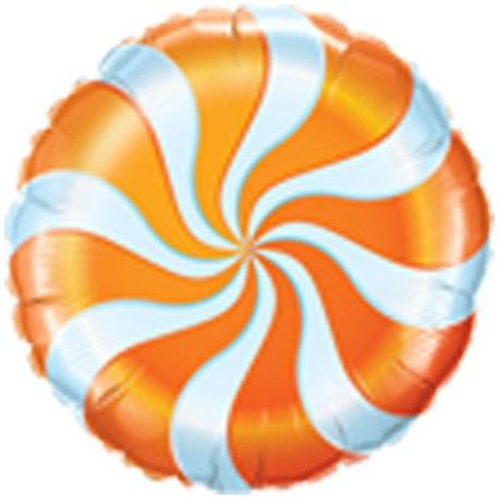 "Foil 18"" (45Cm) Caramelo Naranja"
