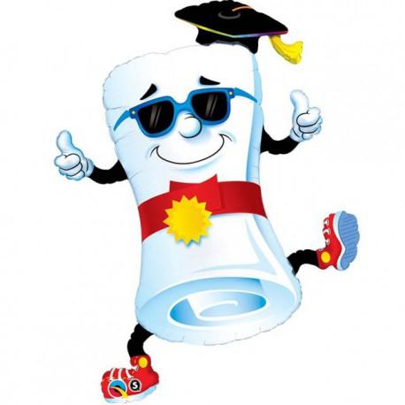 "Globos de foil Supershape 39"" (99Cm) Mr Diploma"