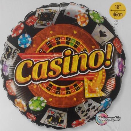 """Globos de foil de 18"""" (45Cm) Casino"""