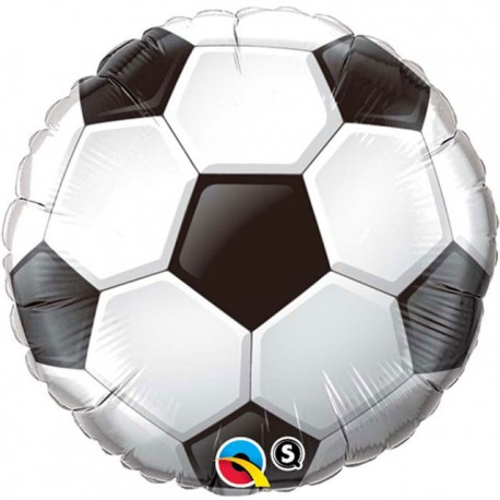 "Globos de foil de 9"" Balón de futbol mini Qualatex"