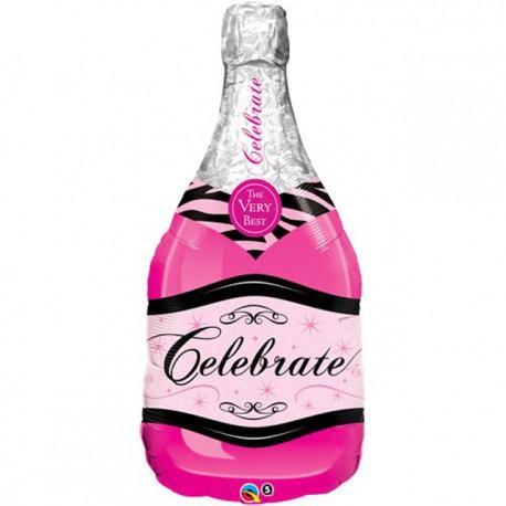 """Globos de foil de 39"""" (99Cm) Botella Champagne Rosa"""