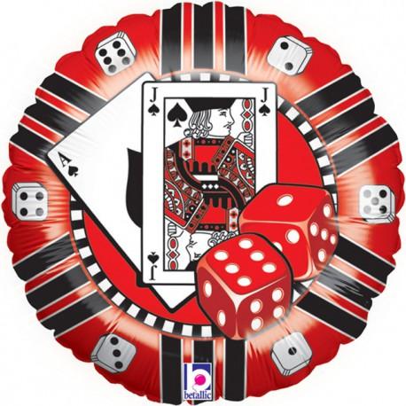 """Globos de foil de 18"""" (45Cm) Ficha de Casino"""