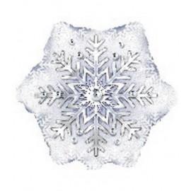 "Globos de foil Estrella de 9"" (23Cm) Copo de Nieve"