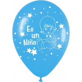 """globos de 12"""" ES UN NIÑO 2"""