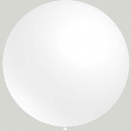 Globos de latex de 2Ft (61Cm) Blanco Balloonia
