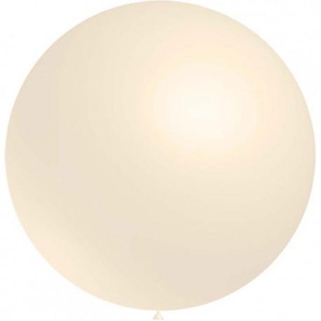 Globos de latex de 2Ft (61Cm) Marfil Balloonia
