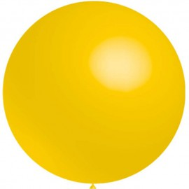 Globos de latex de 2Ft (61Cm) Amarillo Balloonia