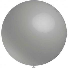 Globos de latex de 2Ft (61Cm) Gris Balloonia