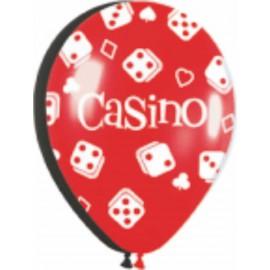 """Globos de 12"""" Casino dados"""