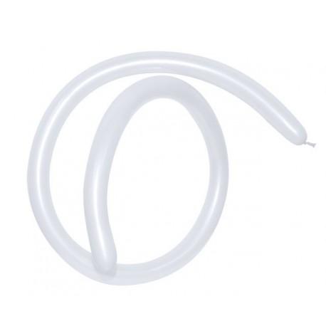 Globos de modelar 160S Blanco Satin Perlado