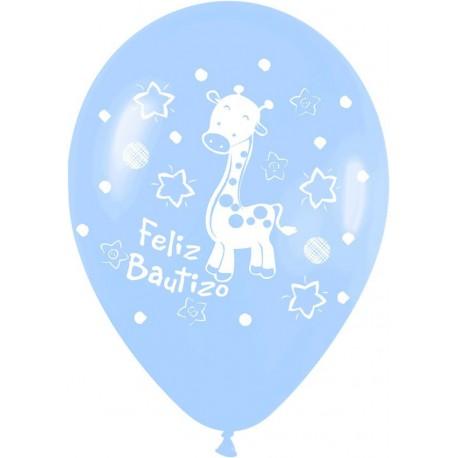 """GLOBOS DE 12"""" FELIZ BAUTIZO"""