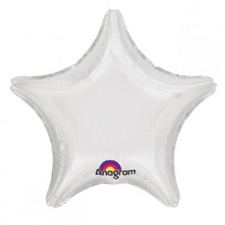 """Globos de foil Estrellas 19"""" Blanco Anagram"""