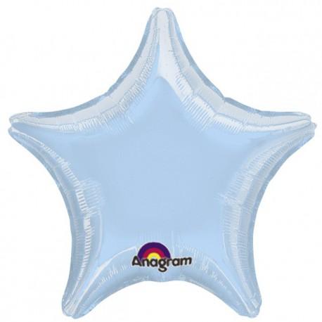 """Globos de foil Estrellas 19"""" Azul Pastel Anagram"""