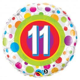 "Globos de foil de 18"" (45Cm) 11 Puntos de colores"