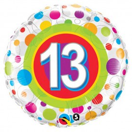 "Globos de foil de 18"" (45Cm) 13 Puntos de colores"