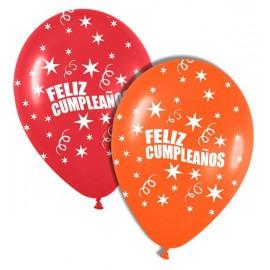 """Globos de 12"""" Feliz cumpleaños"""