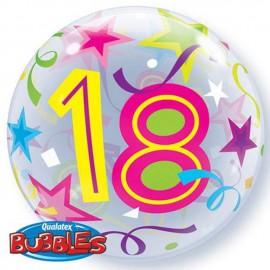 "Globos de foil de 22"" Bubbles 18 Estrellas Brillantes"