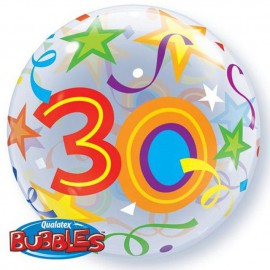 "Globos de foil de 22"" Bubbles 30 Estrellas Brillantes"
