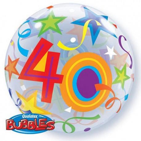 "Globos de foil de 22"" Bubbles 40 Estrellas Brillantes"