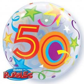 """Globos 22"""" Bubbles 50 Estrellas Brillantes"""