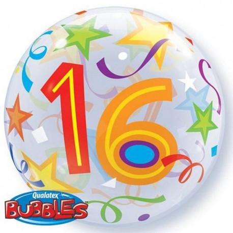 "Globos de foil de 22"" Bubbles 16 Estrellas Brillantes"