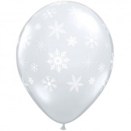 "Globos de 11"" Copos de Nieve Qualatex"