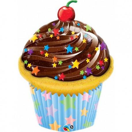 """Globos de foil de 35"""" Choco Cupcake"""