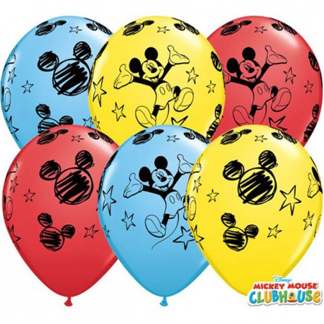 "Globos de 11"" Surtido Mickey Qualatex"