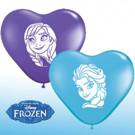 "Globos de 5"" Anna & Elsa Corazon Qualatex"